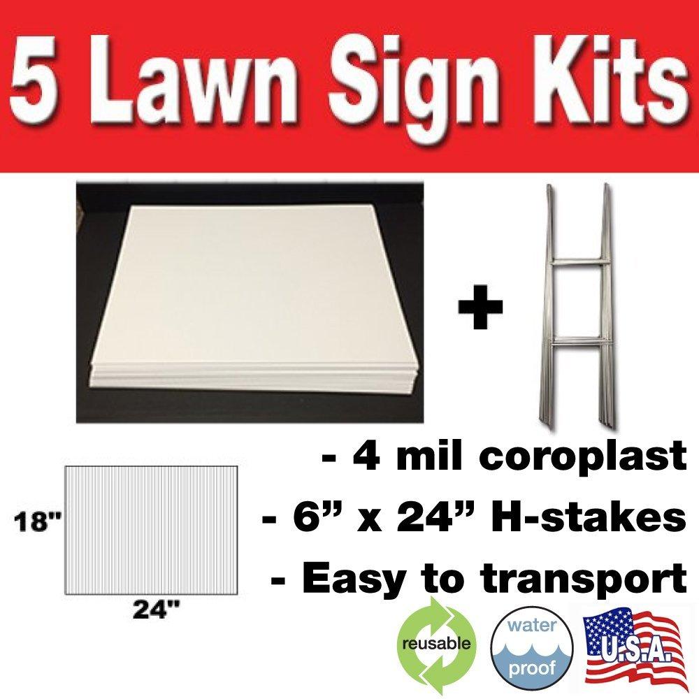5 Lawn Signs Kit